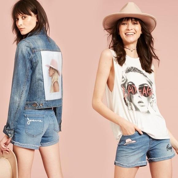 gaga jean shorts